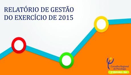CRP – 03 disponibiliza Relatório de Gestão do ano 2015