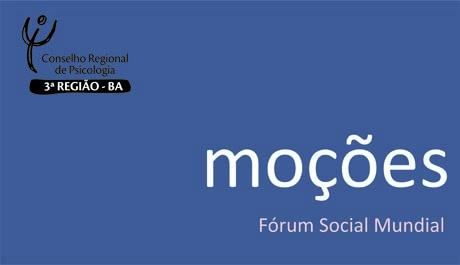 Moções Fórum Social Mundial 2018