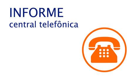 Aviso sobre central telefônica