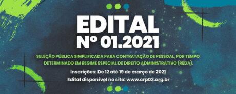 EDITAL Nº 01.2021: Seleção Pública Simplificada para Assistente Organizacional e Técnico de Informática